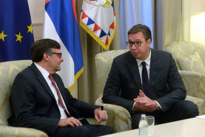 Vučić, Brnabić i Selaković se sastali sa Palmerom