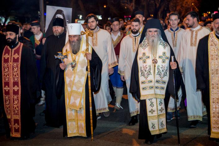 Veličanstvena noć u Podgorici: Mitropolit Onufrije predvodio litiju