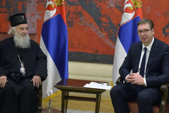 Patrijarh Irinej: Već osam godina slušam da će Vučić izdati Kosovo