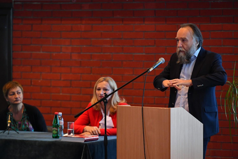 Profesor dr Aleksandar Dugin tokom predavanja na Univerzitetu odbrane u Beogradu, 22. novembar 2020. (Foto: Ministarstvo odbrane RS)
