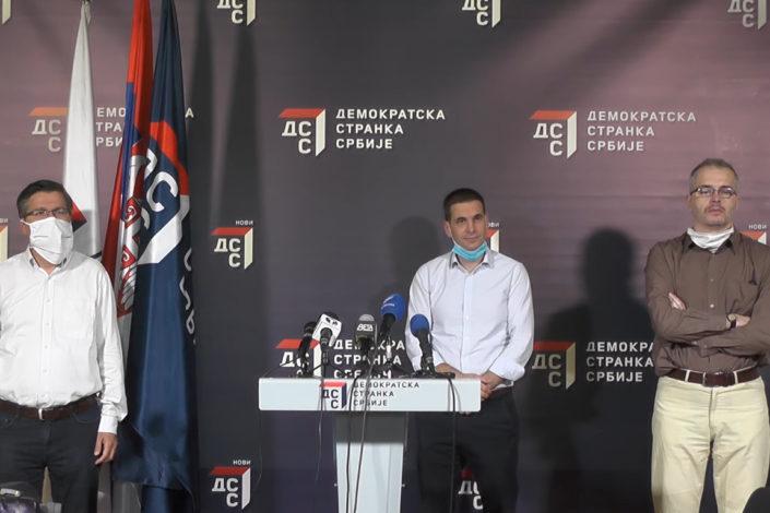 Jovanović, Ković i Koprivica održali konferenciju za medije (VIDEO)