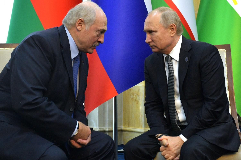 Председник Белорусије Александар Лукашенко током састанка са председником Русије Владимиром Путином на маргинама самита Шангајске организације за сарадњу, Бишкек, 14. јун 2019. (Фото: kremlin.ru)
