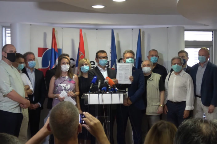 """Formirana """"Udružena opozicija Srbije"""""""