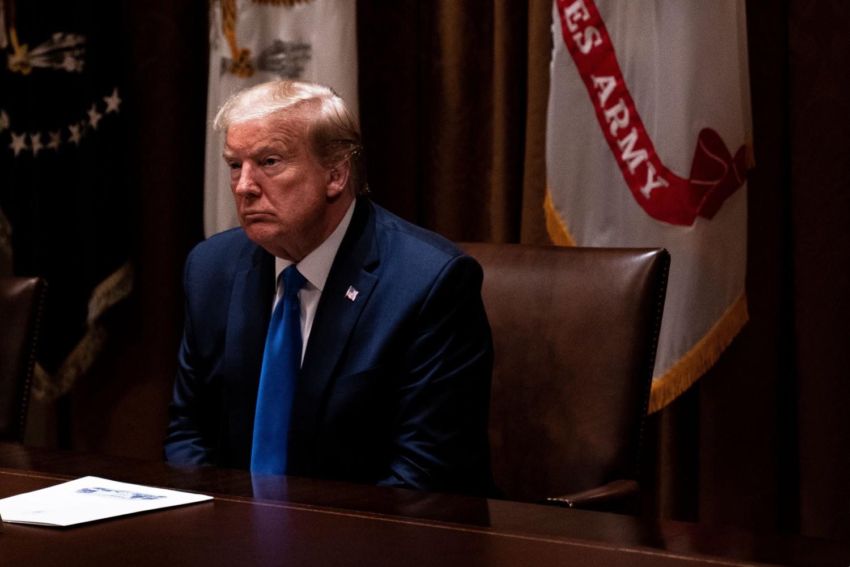 Američki predsednik Donald Tramp tokom sastanka sa vojnim liderima i članovima svog tima za nacionalnu bezbednost u Beloj kući, Vašington, 09. maj 2020. (Foto: Anna Moneymaker/Pool/Getty Images)