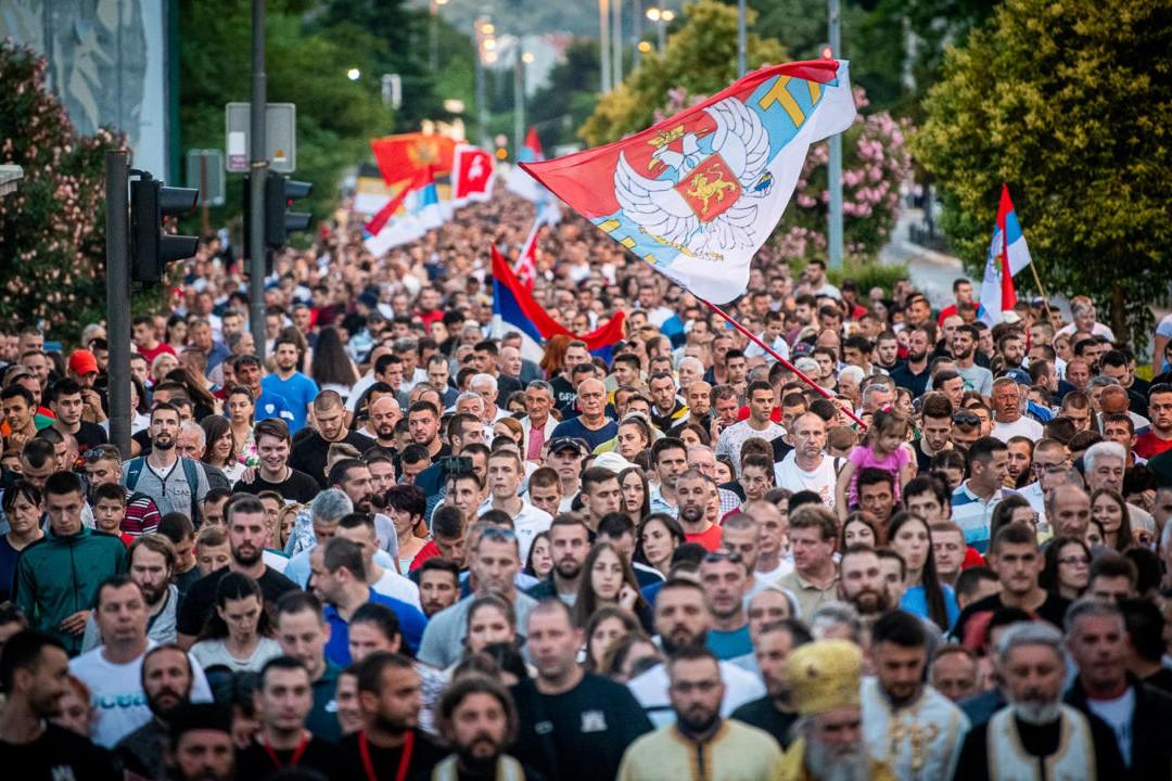 Грађани Подгорице током литије за одбрану светиња, 15. јун 2020. (Фото: Милош Вујовић/mitropolija.com)