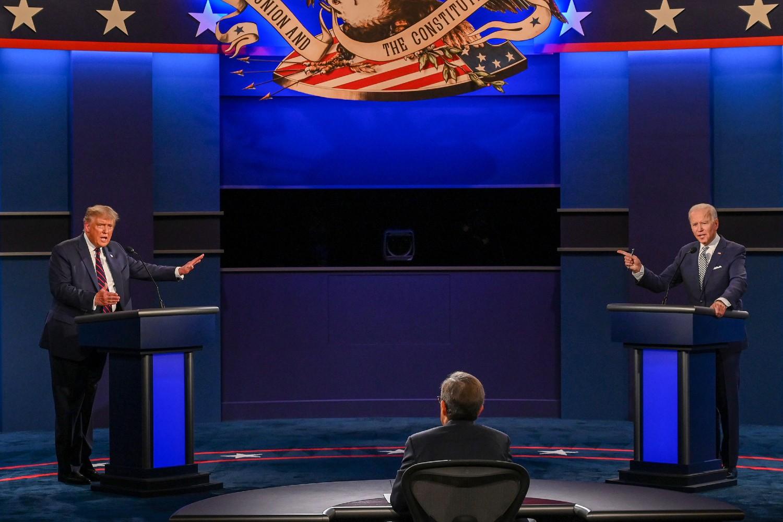 Donald Tramp i Džozef Bajden tokom prve predsedničke debate, 29. septembar 2020. (Foto: Jim Watson/AFP via Getty Images)