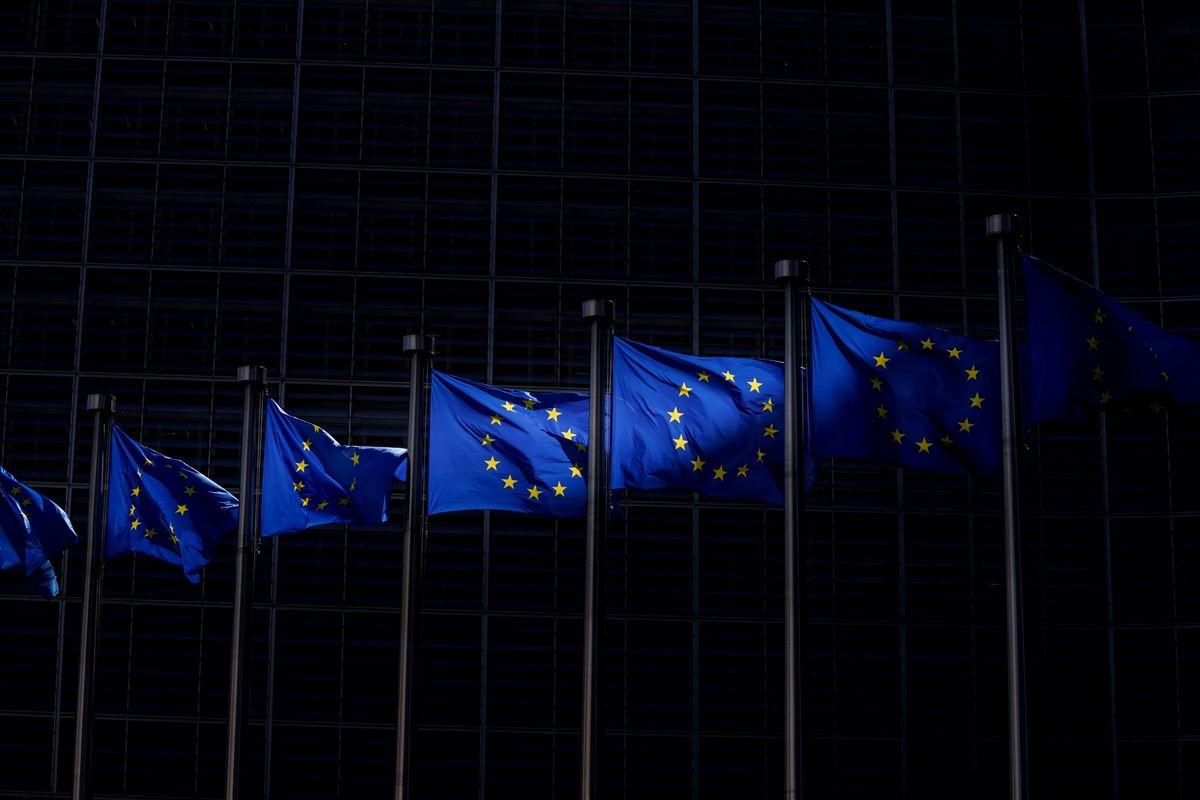 Заставе Европске уније у Бриселу (Фото: Kenzo Triboullard/AFP via Getty Images)