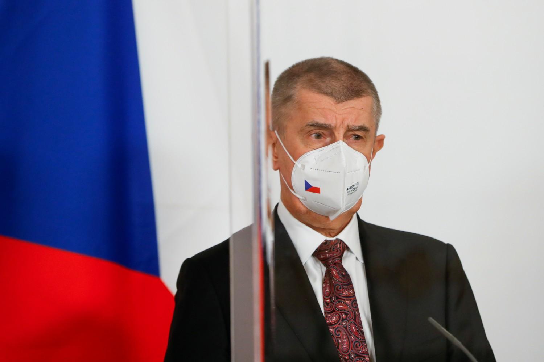 Premijer Češke Republike Andrej Babiš tokom konferencije za medije u Beču, 16. mart 2021. (Foto: Reuters/Leonhard Foeger)