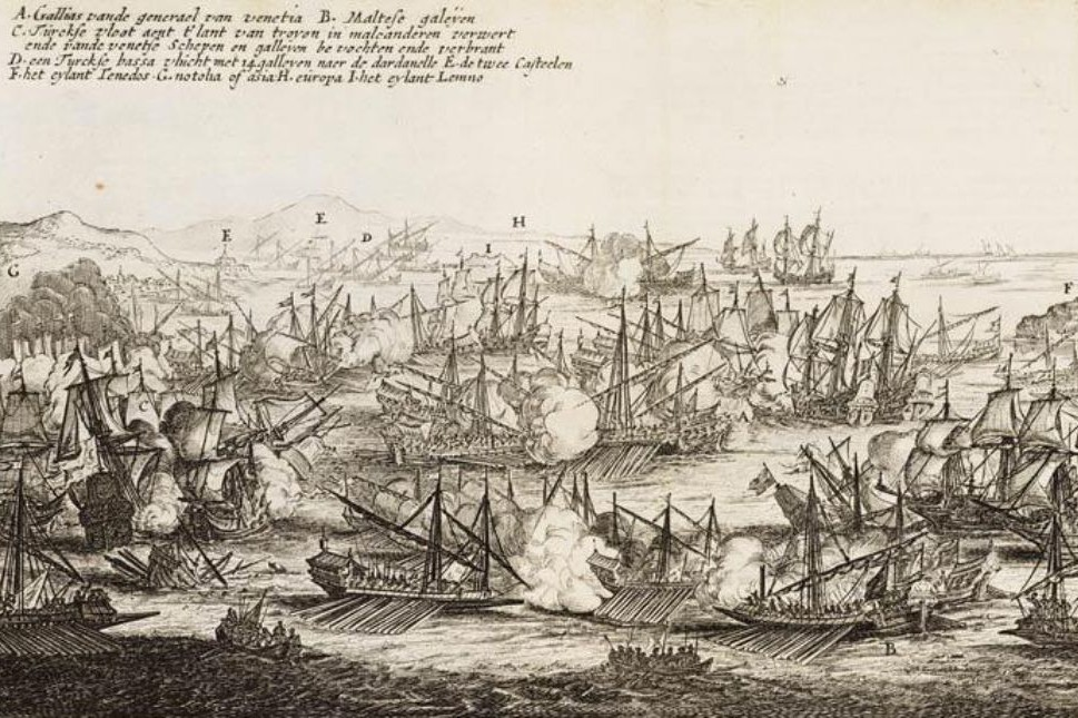 "Piter Kastelin, ""Bitka kod Dardanela (1656)"", 1657 (Foto: Wikimedia/Legermuseum, Delft. 00102437/002)"