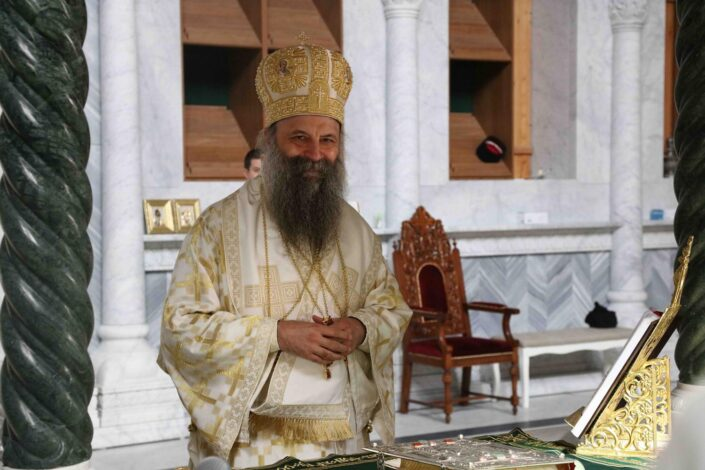 Patrijarh Porfirije i vladike SPC dolaze na ustoličenje mitropolita Joanikija