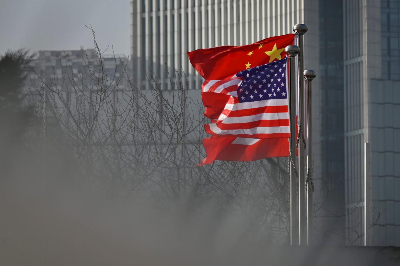 Zastave Kine i Sjedinjenih Država istaknute u Pekingu, 19. januar 2020. (Foto: Wang Zhao/AFP via Getty Images)