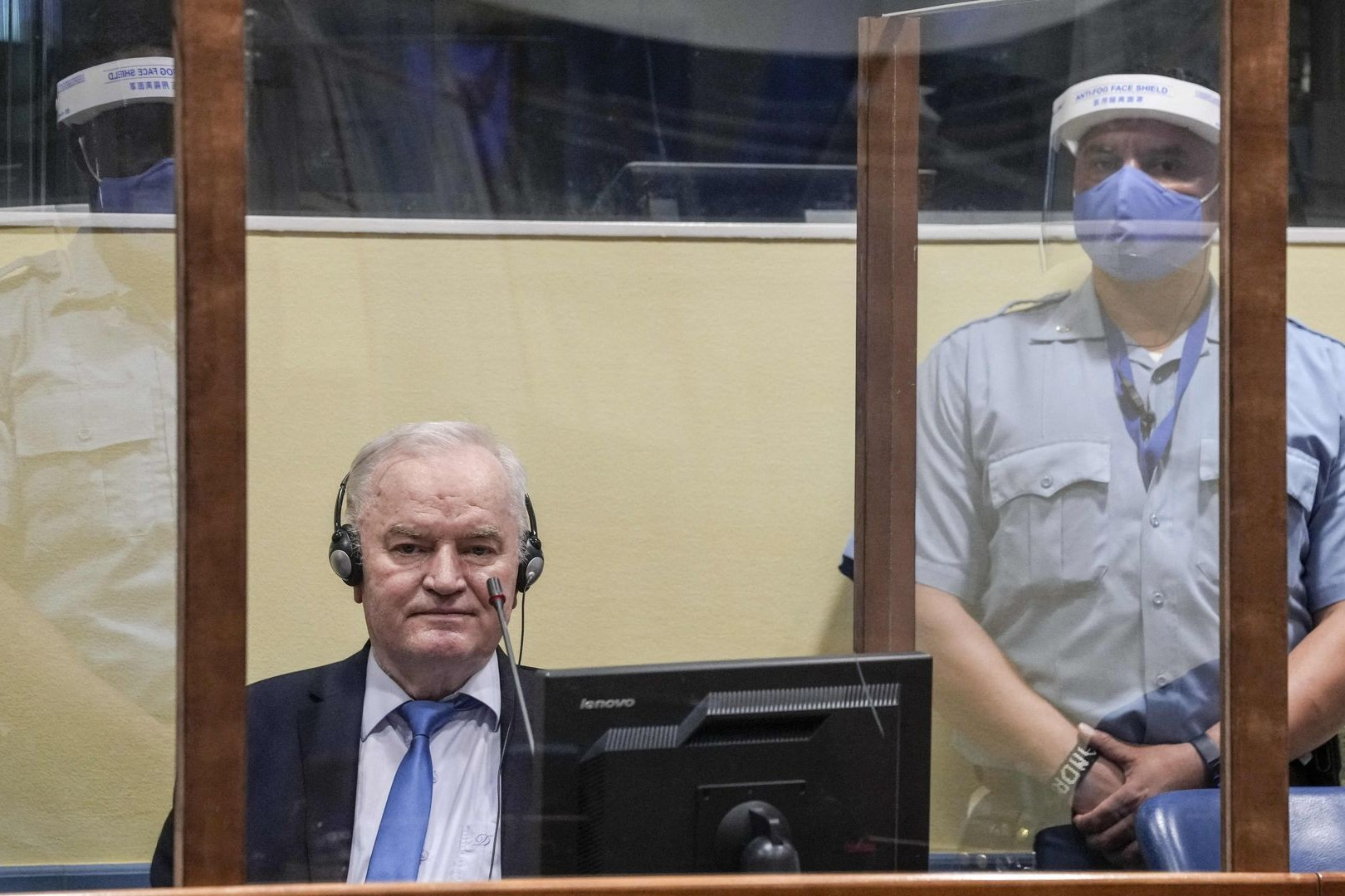 General Ratko Mladić u sudnici tokom izricanja konačne presude, Hag, 08. jun 2021. (Foto: Peter Dejong/Pool/AFP via Getty Images)