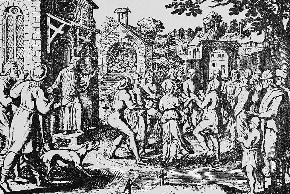 Nemačka gravura plesa Svetog Vida (Foto: Wikimedia/Flickr/Internet Archive Book Images)
