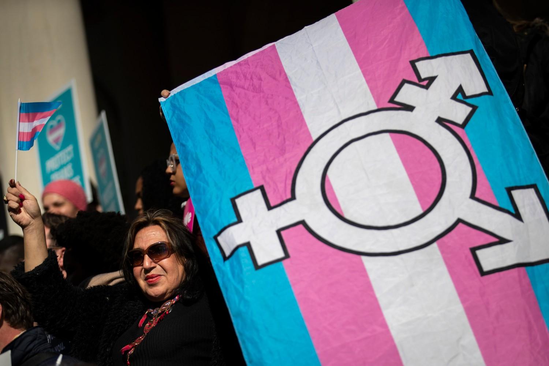 LGBT aktivisti tokom protesta u znak podrške transrodnim osobama, Njujork, 24. oktobar 2018. (Foto: Drew Angerer/Getty Images)