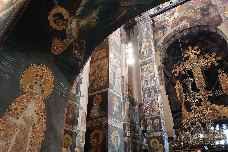 Freska kraljice Simonide unutar manastira Gračanica (Foto: Radomir Jovanović/Novi Standard)