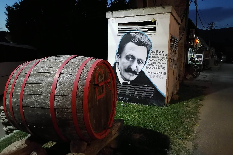 Mural Branislava Nušića u Velikoj Hoči (Foto: Radomir Jovanović/Novi Standard)