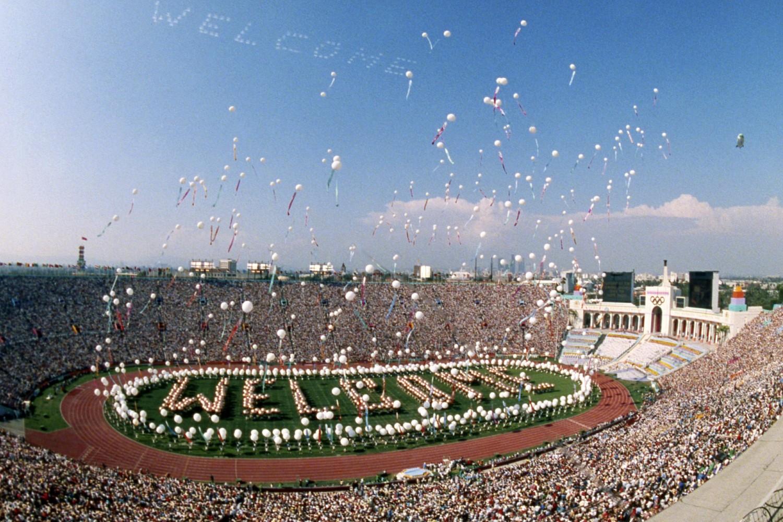 Svečana ceremonija otvaranja Letnjih olimpijskih igara u Los Anđelesu, 28. jul 1984. (Foto: AP Photo/Dave Tenenbaum)