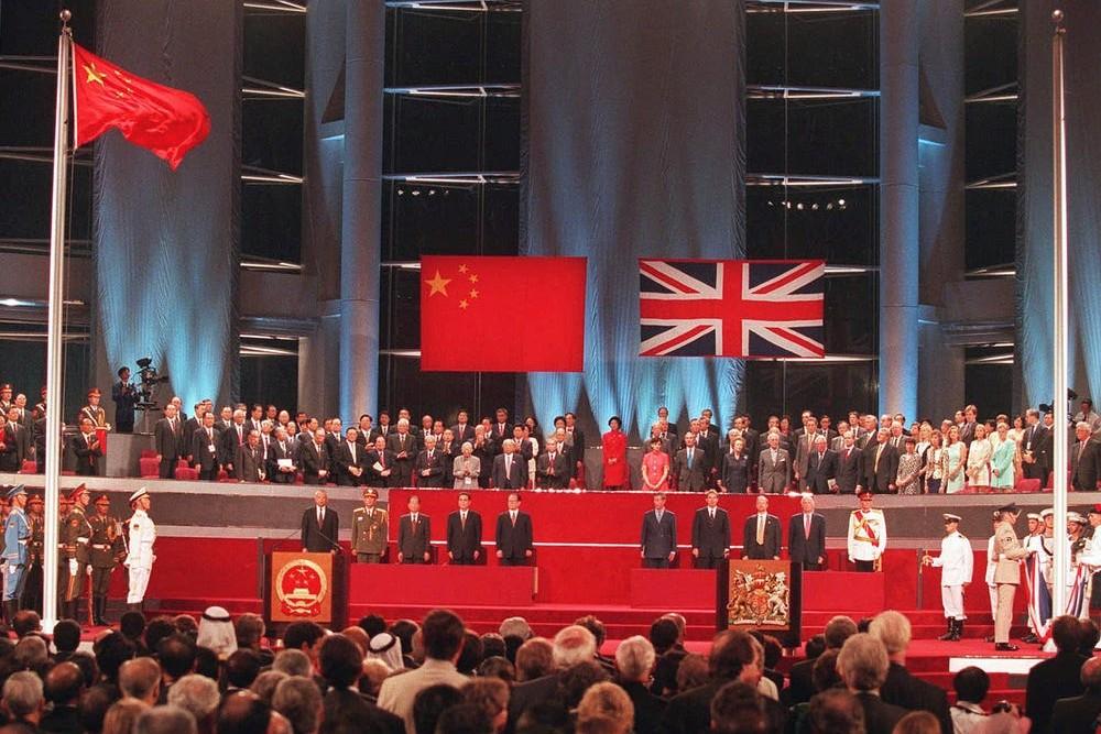 Detalj sa ceremonije primopredaje Hongkonga Kini od strane Velike Britanije, 01. jul 1997. (Foto: AP Photo/Kimimasa Mayama)