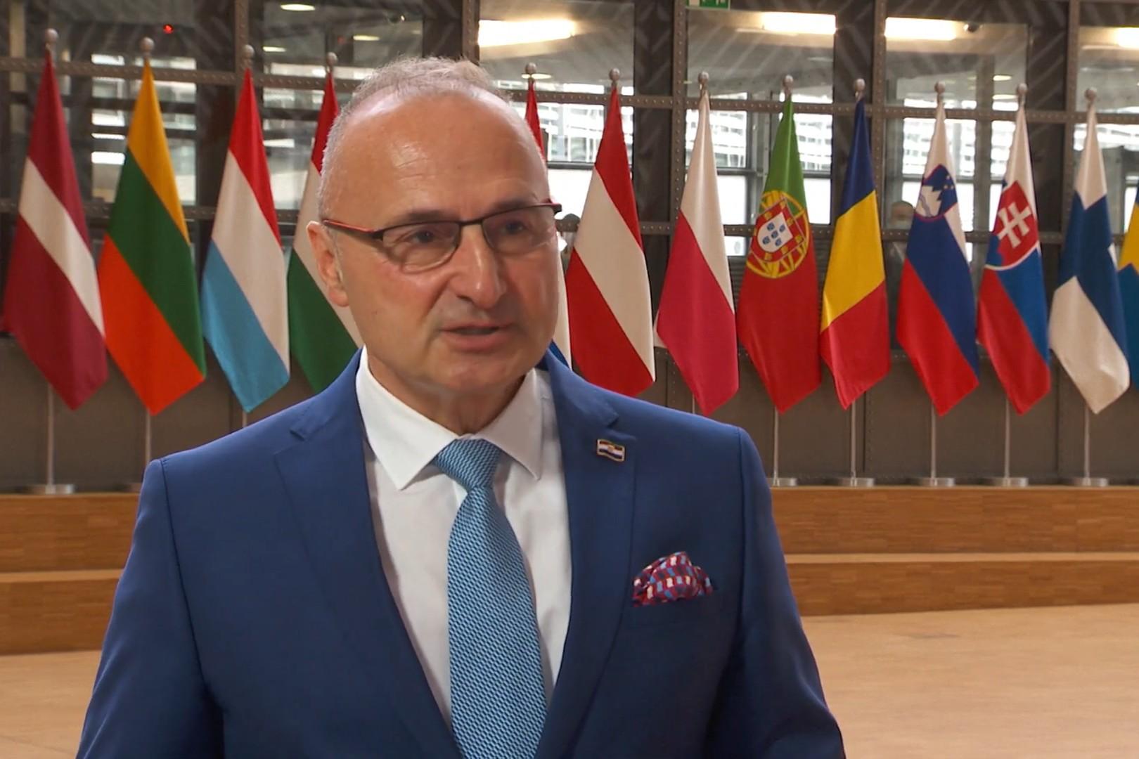 Ministar spoljnih poslova Hrvatske Gordan Grlić Radman (Foto: Snimak ekrana/Jutjub/EU Debates | eudebates.tv)
