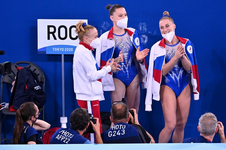Ruske gimnastičarke na Olimpijskim igrama u Tokiju, 27. jul 2021. (Foto: Reuters/Dylan Martinez)