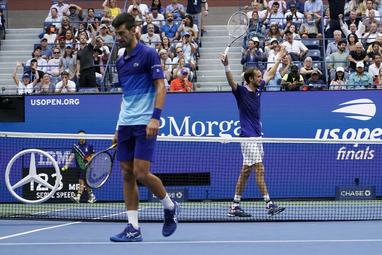 Detalj sa finala Ju-Es opena između Danila Medvedeva i Novaka Đokovića, Njujork, 12. septembar 2021. (Foto: AP Photo/Elise Amendola)