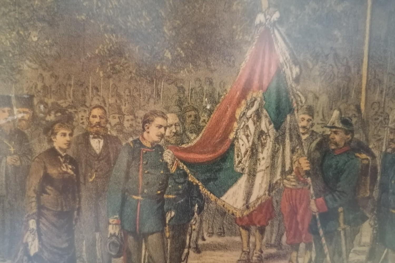 """Ladislav Petrović, """"Polazak kneza Milana na bojno polje 20. jula 1876."""" (Foto: Radomir Jovanović/Novi Standard)"""
