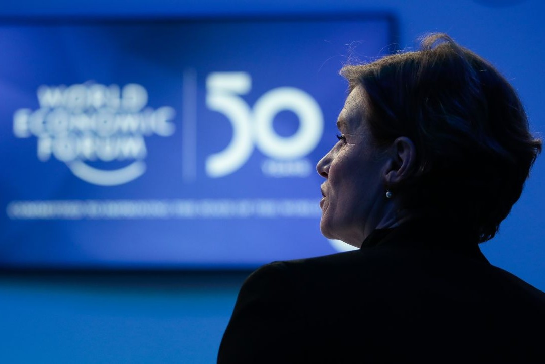 Marijana Macukato tokom otvaranja Svetskog ekonomskog foruma u Davosu, 21. januar 2020. (Foto: Jason Alden/Bloomberg)
