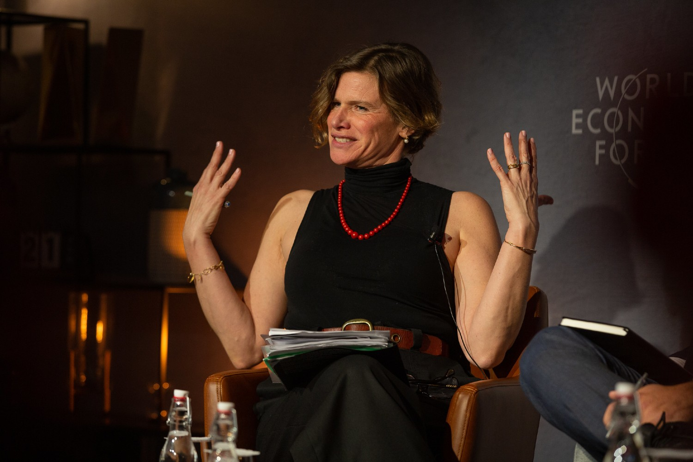 Marijana Macukato tokom jedne panel diskusije na Svetskom ekonomskom forumu u Davosu, 21. januar 2020. (Foto: Flickr/World Economic Forum/Christian Clavadetscher, CC BY-NC 2.0)