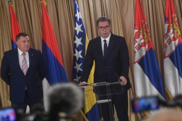 Vučić: Srbija neće uvoditi sankcije Srpskoj; Dodik: Nećemo žrtvovati mir